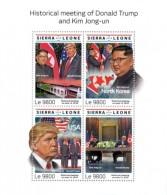 SIERRA LEONE 2018  US-DPR Korea Summit Singapore  Trump  And  Kim Jong-un  S201807 - Sierra Leone (1961-...)