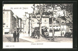Cartolina Spezia, Piazza Garibaldi Mit Strassenbahn - La Spezia