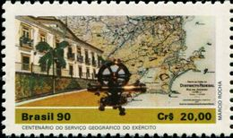 BX0864 Brazil 1990 Museum Building And Map 1V MNH - Brasilien