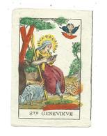IMAGE PIEUSE Polychrome Du XVIIIe Siècle...SAINTE GENEVIEVE... 2 Scans - Images Religieuses