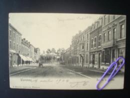 WAREMME : Rue De La Station Et L'imprimerie MOREAU  En 1904 - Borgworm