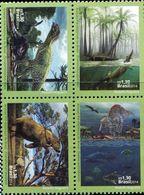 BX0880 Brazil 2014 Ancient Animal Dinosaur 4V MNH - Brazil
