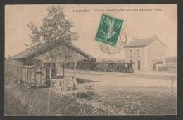 LEUVILLE  Gare De Chemin De Fer Sur La Route D'Arpajon / Ed. A Borné / Voyagée En Janvier 1910 / Train Tramway - France