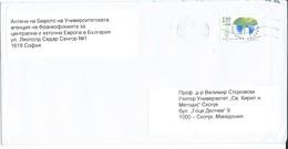 Bulgaria Letter Via Macedonia.stamp Motive - 2014 Flora - Mushrooms - Briefe U. Dokumente