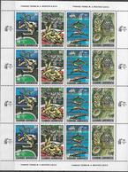 1989 Griechenland Mi. 1717-20 **MNH Sheet Bewerbung Von Athen Um Die Austragung Der Olympischen Sommerspiele 1996 - 2005