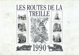 Vin Viticulture Calendrier 1990 Les Routes De La Treille - Calendars