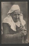 BRETAGNE  Vieille Fumeuse De Pipe De ROSPORDEN / Ed. Villard / Voyagée En Novembre 1909  TBE - Frankrijk