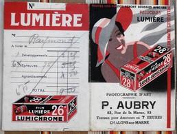 Pochette Negatif Photo 51 CHALONS SUR MARNE AUBRY Film Lumiere - Châlons-sur-Marne