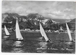 (RECTO / VERSO) MARINA DI CARRARA EN 1954 - N° 5 - ALPI APUANE -  Ed. A. PAGLINI - CPSM GF VOYAGEE - Massa