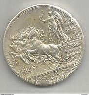 Italia, Regno, Vittorio Emanuele III, Scudo Ag., 5 Lire 1914. Riconio, Restrike. - 1861-1946 : Regno