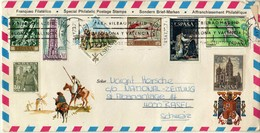 Mallorca Tourism Airmail Letter Via Switzerland.nice Mix Stamps - 1931-Hoy: 2ª República - ... Juan Carlos I