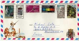 Costa Del Sol Tourism Airmail Letter Via Switzerland.nice Mix Stamps - 1931-Hoy: 2ª República - ... Juan Carlos I