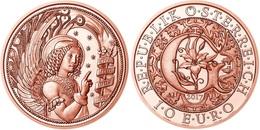 """AUSTRIA  10€ 2.017  2017  COBRE / COPPER """"GABRIEL - EL ÁNGEL REVELADOR""""  SC/UNC T-DL-12.205 - Austria"""