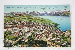 Postcard Switzerland - Lausanne Ouchy - Lac Neman - Phototypie Neuchâtel - 7910 - VD Vaud