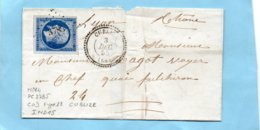 Cachet 22 Et P.c.3785 CUBLIZE (68) Sur N° 14 I,L.S.C. Pour LYON Le 3/12/55. - Postmark Collection (Covers)
