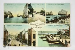 Postcard England - Peculiar Propierties Of The Isle Of Wight - Welch & Sons - - Inglaterra