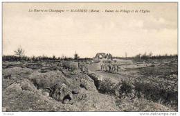 MASSIGES  MILITARIA GUERRE 1914-18  La Guerre En Champagne- Ruines Du Village Et De L' Eglise  ..... - Guerre 1914-18