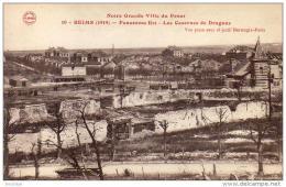 REIMS  MILITARIA GUERRE 1914-18  Panorama Est- Les Casernes De Dragons  ..... - Guerre 1914-18