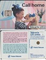 F380A-522 TELECARTE CALL HOME 93  PUCE SC5An   N° 4 6 4 3 5   E S P A C E TRES RARE 120 U - France
