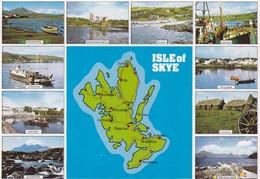 Postcard Map Of The Isle Of Skye Scotland My Ref  B22835 - Maps