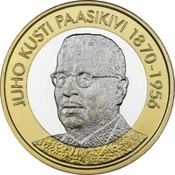 "FINLANDIA  5€ 2.017  2017  BIMETALICA ""Serie Presidentes – JUHO KUSTI PAASIKIVI""  SC/UNC T-DL-12.210 - Finlandía"