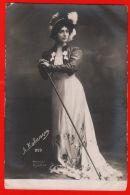 Lina Cavalieri Before The Girl Hat Cane Dress Fashion Italian Opera Singer Clean - Fashion