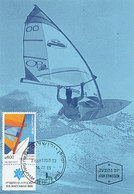 D34738 CARTE MAXIMUM CARD FD 1985 ISRAEL - WIND SURFING CP ORIGINAL - Sailing