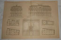 Plan De La Bourse De Commerce Au Mans Dans La Sarthe. M. Théodore Lafon, Architecte.1891. - Travaux Publics