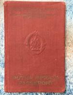 PASSPORT   REISEPASS  PASSAPORTO   YUGOSLAVIA  VISA TO: ITALIA , AUSTRIA , GERMANY  1957. - Documenti Storici