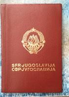 PASSPORT   REISEPASS  PASSAPORTO   YUGOSLAVIA 1966. - Documenti Storici