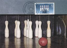 D34741 CARTE MAXIMUM CARD FD 1985 GERMANY - NINE PIN BOWLING KEGELN CP ORIGINAL - Stamps