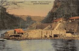 43-LEMPDES- BARRAGE SUR L'ALLAGNON, PENDANT L'INNONDATION - France