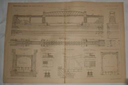 Plan Du Viaduc De L'Oise Sur La Nouvelle Ligne D'Argenteuil à Mantes.1891. - Travaux Publics