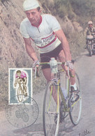 D34742 CARTE MAXIMUM CARD TRIPLE FD 1972 FRANCE - SPANISH KAS TEAM - CYCLING WORLD CHAMPIONSHIP GAP CP PHOTOCARD - Cycling