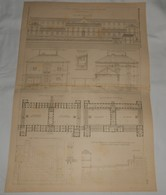 Plan Du Collège Communal De Coulommiers En Seine Et Marne. M. Marmottin, Architecte.1891. - Travaux Publics