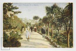 Postcard England - Torquay, Devon - Rock Walk - Celesque Series - Photochrom - Torquay