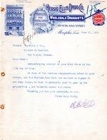 USA MENPHIS FACTURE COURRIER ILLUSTREE DU 21/06/1912 ESSIG ELLIS DRUG CO WHOLESALE DRUGGISTS POUR J SORIN A COGNAC - United States