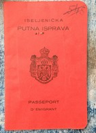 PASSPORT   REISEPASS  PASSAPORTO  KINDOM OF YUGOSLAVIA  1927. - Historische Dokumente
