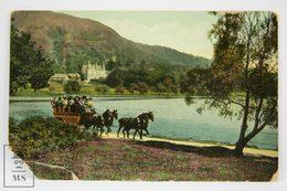 Postcard Scotland - Trossachs Hotel - Horse Carriage - Main Entrance - Valentines Series - Scotland