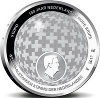 "HOLANDA  5€ 2.017  2017  PLATA/SILVER ""150 Years Of Dutch Red Cross""  SC/UNC T-DL-12.212 - Paises Bajos"