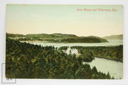 Postcard Scotland - Aros House & Tobermory Bay - Valentines Series - Argyllshire