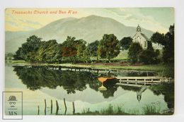 Postcard Scotland - Trossachs Church & Ben A'an - Valentines Series - Scotland