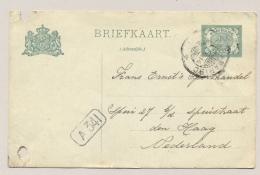 Suriname - 1914 - 2,5 Cent Cijfer, Briefkaart G21 Echt Gebruikt Van KB Paramaribo Naar Den Haag / Nederland - 2e Keus - Suriname ... - 1975
