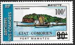 """Comores Aerien YT 84 (PA) """" PA 64 Surchargé  """" 1975 Neuf** - Comoros"""