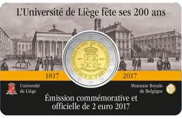 """BÉLGICA  2€ 2.017  2017  Bimetálica """"200º Aniversario De La Universidad De Lieja""""  SC/UNC T-DL-12.214 - Belgium"""