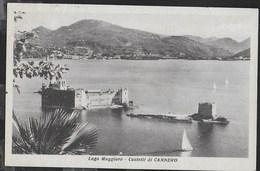 PIEMONTE - CASTELLI DI CANNERO - FORMATO PICCOLO - ED. REGGIERI LAVENO - VIAGGIATA DA CANNERO RIVIERA(NO) 1958 - Italie