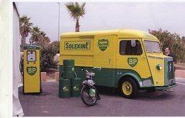 Citroen HY Et Un Cyclomoteur Solex Pour Les Marques Solexine Et BP    -  15x10 PHOTO - Camion, Tir