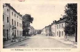 43-FIX-SAINT-GENEYS- LA GRAND'RUE , ROUTE NATIONALE LE PUY CLERMONT ( VOIR POMPE A ESSENCE ) - France