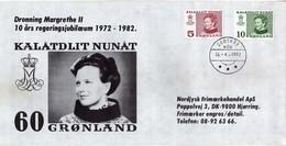 Greenland Letter - 1972 - 1982 Queen Margrethe II - Groenland