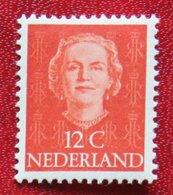 12 Ct Koningin Juliana EN FACE NVPH 521 (Mi 528) 1949 1950 MH / Ongebruikt NEDERLAND / NIEDERLANDE - Unused Stamps